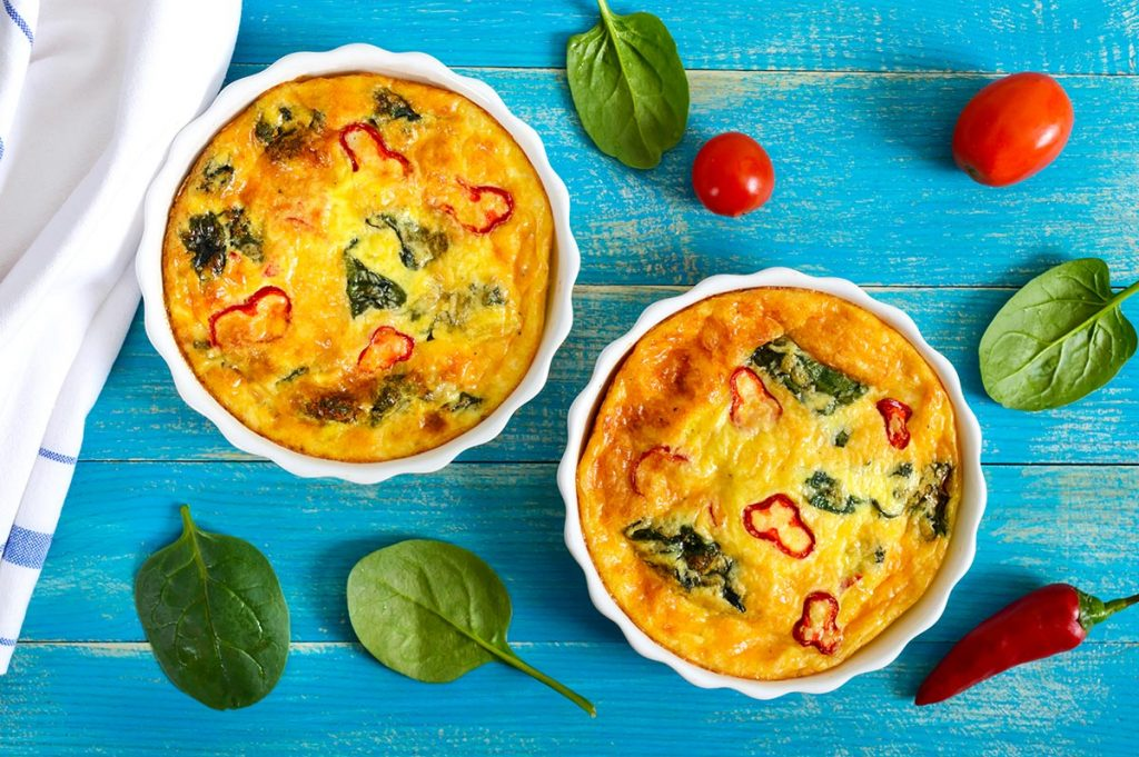 Keto Diet Menu for Beginners - Bacon and Spinach Frittata